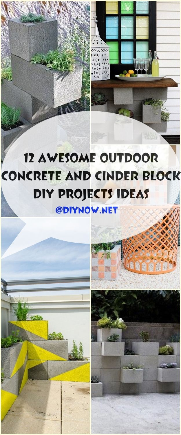 12 Awesome Outdoor Concrete and Cinder Block DIY Projects Ideas