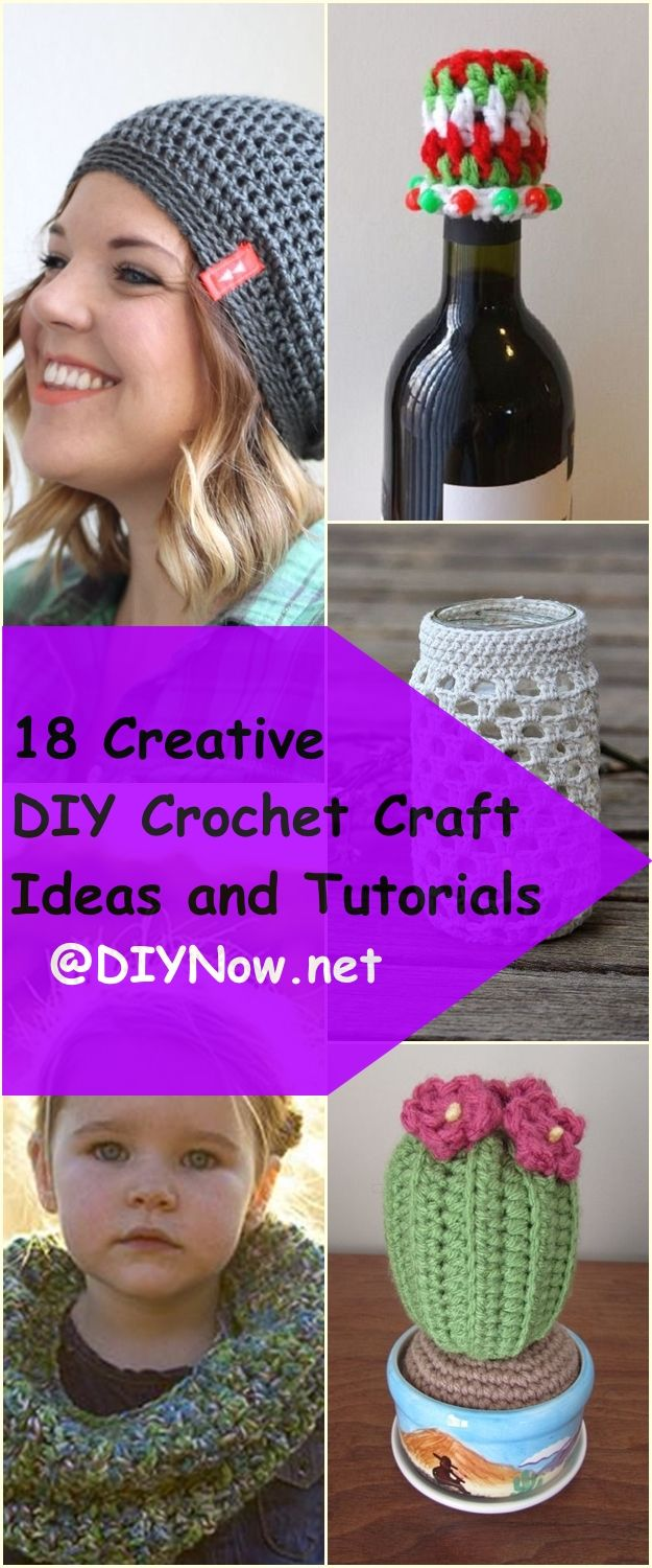 18 Creative DIY Crochet Craft Ideas and Tutorials