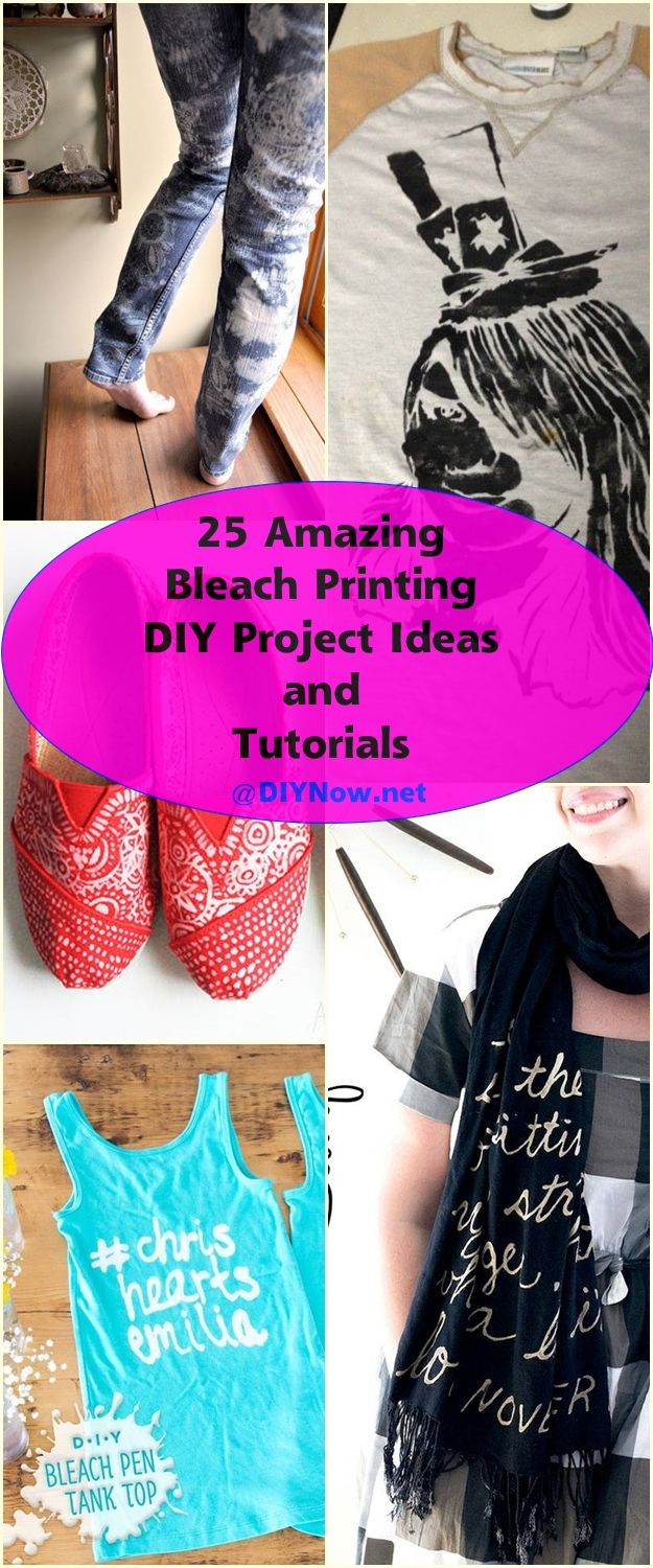 25 Amazing Bleach Printing DIY Project Ideas and Tutorials
