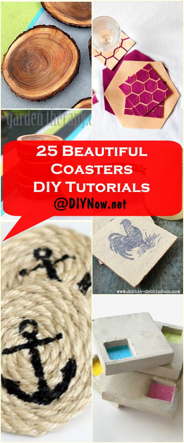 25 Beautiful Coasters DIY Tutorials