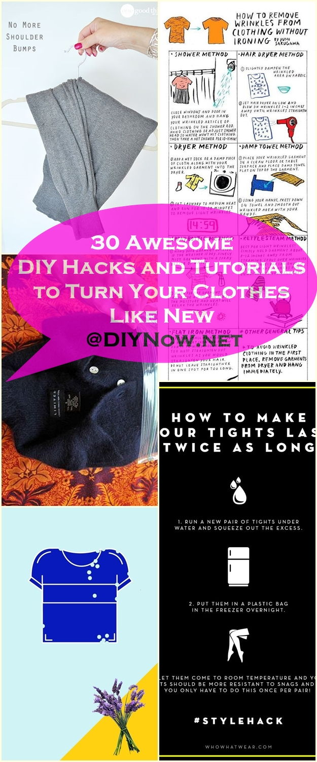 30 Awesome DIY Hacks and Tutorials to Turn Your Clothes Like New