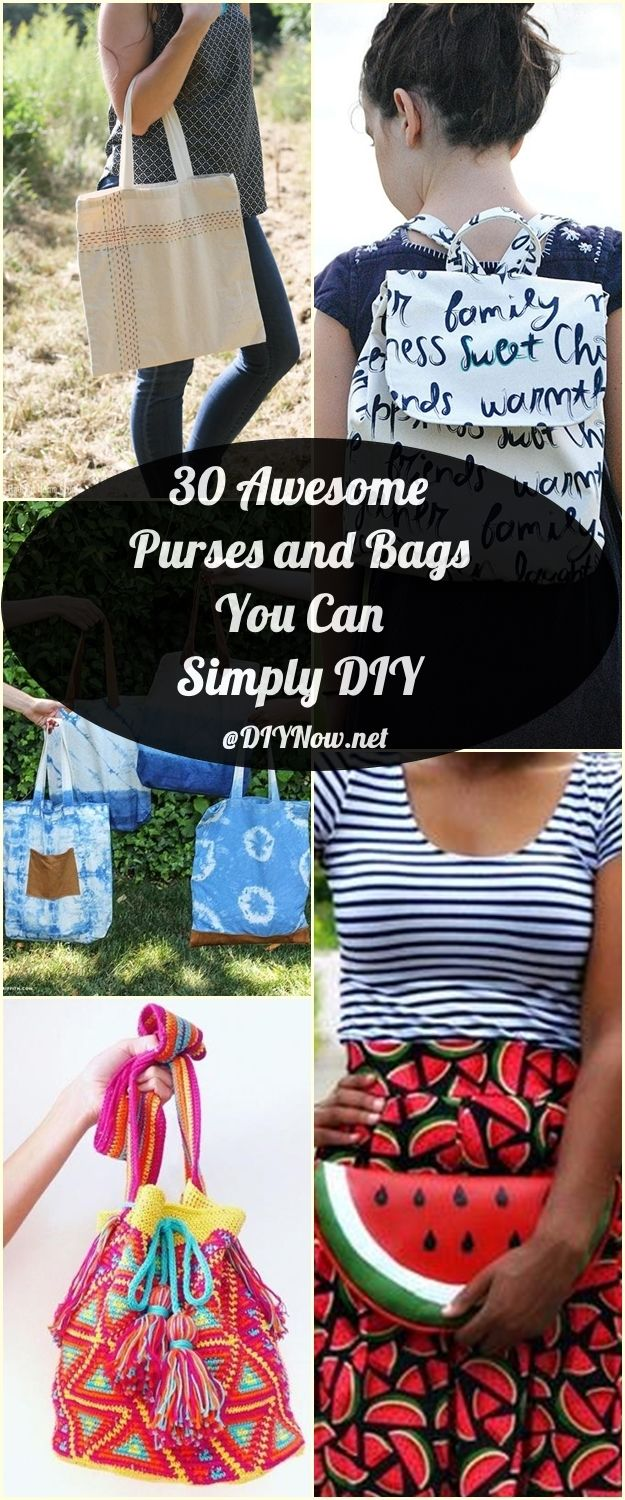30 Awesome Purses and Bags You Can Simply DIY