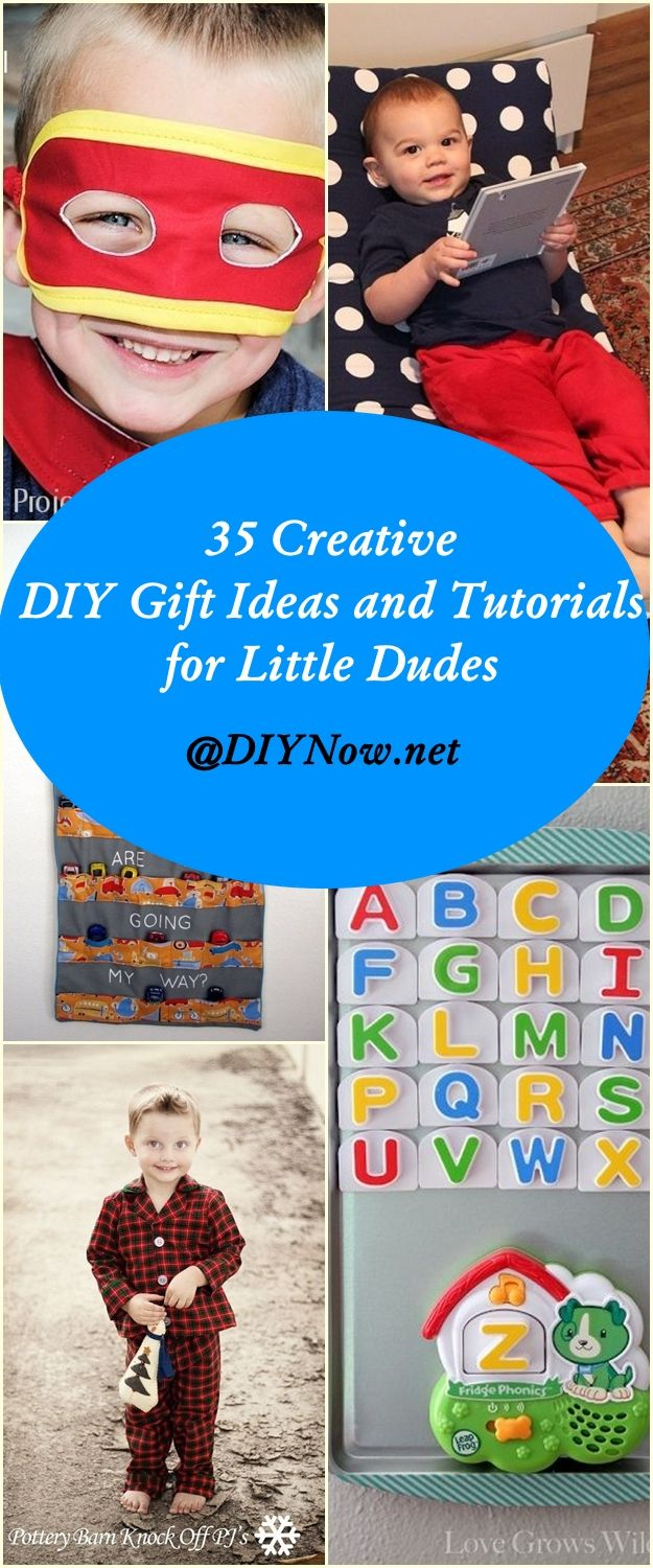 35 Creative DIY Gift Ideas and Tutorials for Little Dudes