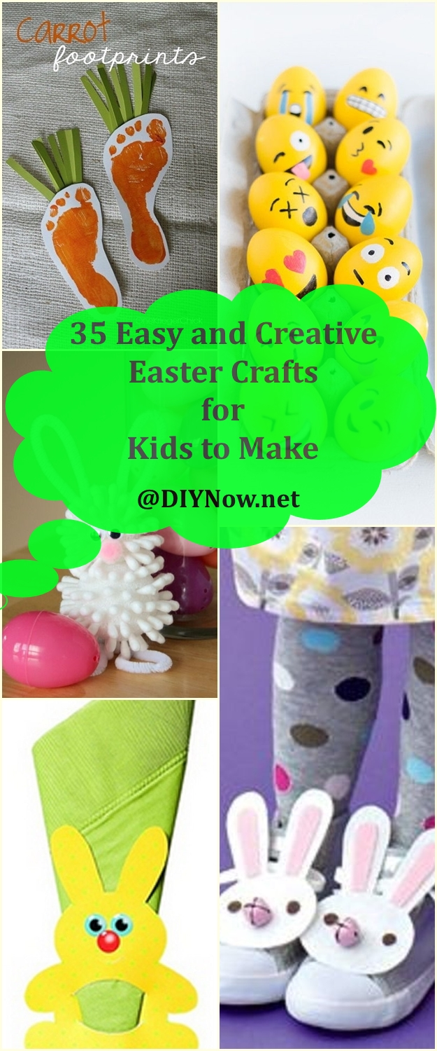 35 Easy and Creative Easter Crafts for Kids to Make