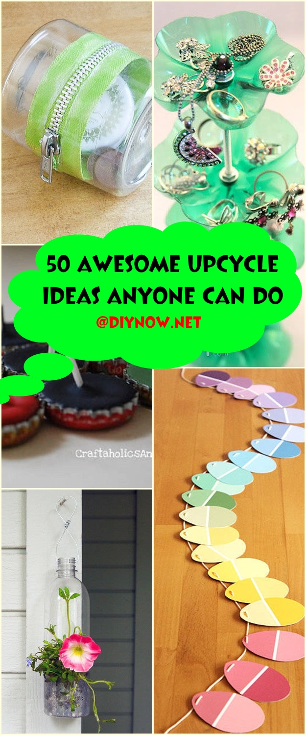 50 Awesome Upcycle Ideas Anyone Can Do