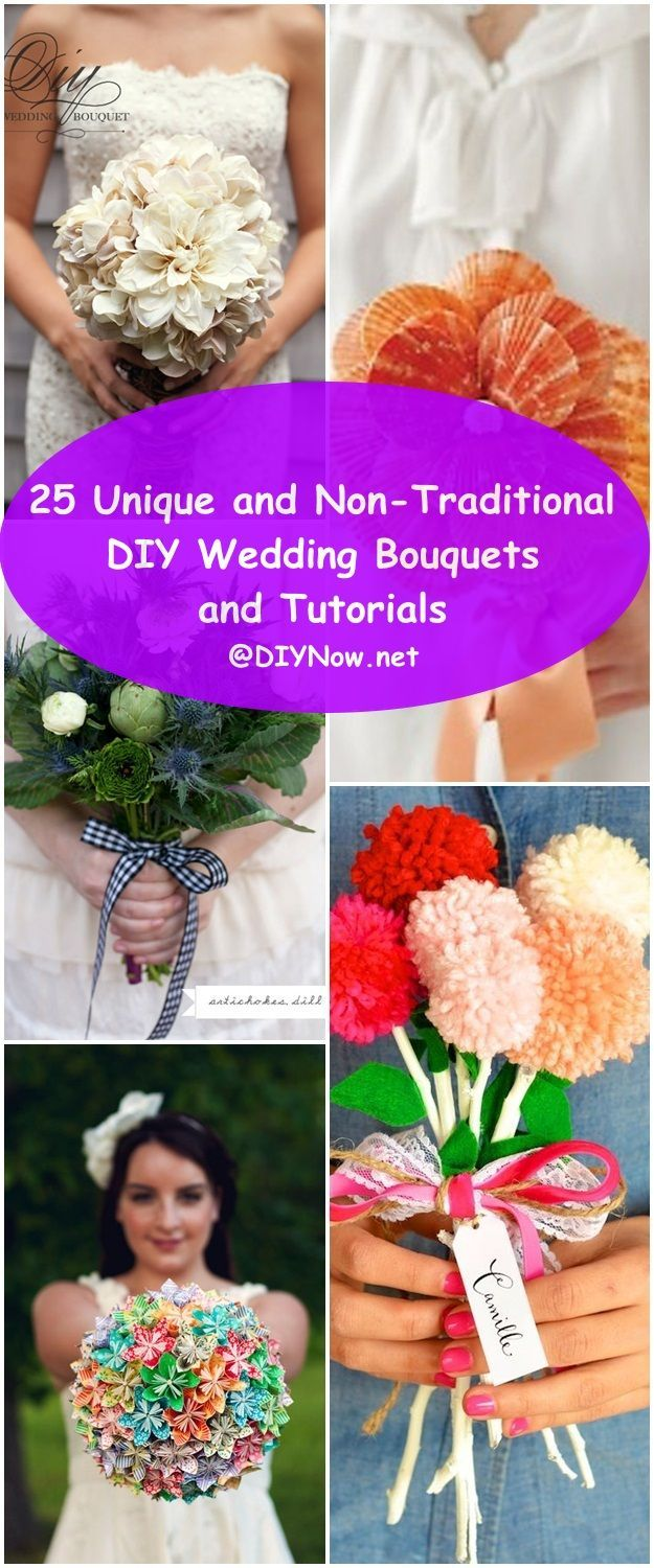 25 Unique and Non-Traditional DIY Wedding Bouquets and Tutorials