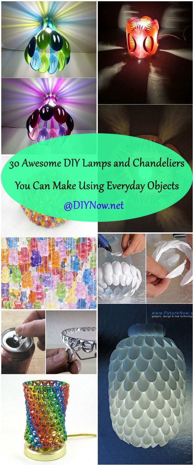 Photo Hacks With Everyday Objects Using >> 30 Awesome DIY Lamps and Chandeliers You Can Make Using Everyday Objects – Page 32 – DIYNow.net