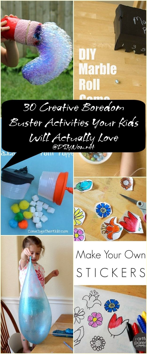 30 Creative Boredom Buster Activities Your Kids Will Actually Love