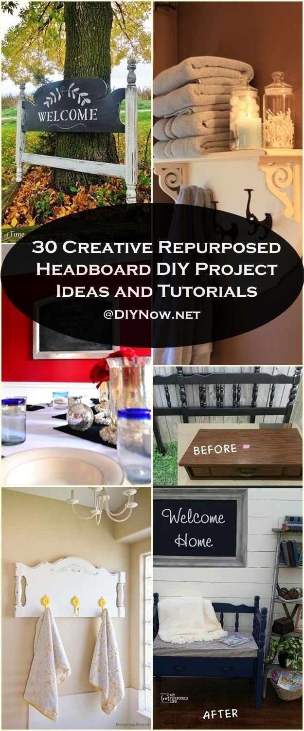 30 Creative Repurposed Headboard DIY Project Ideas and Tutorials