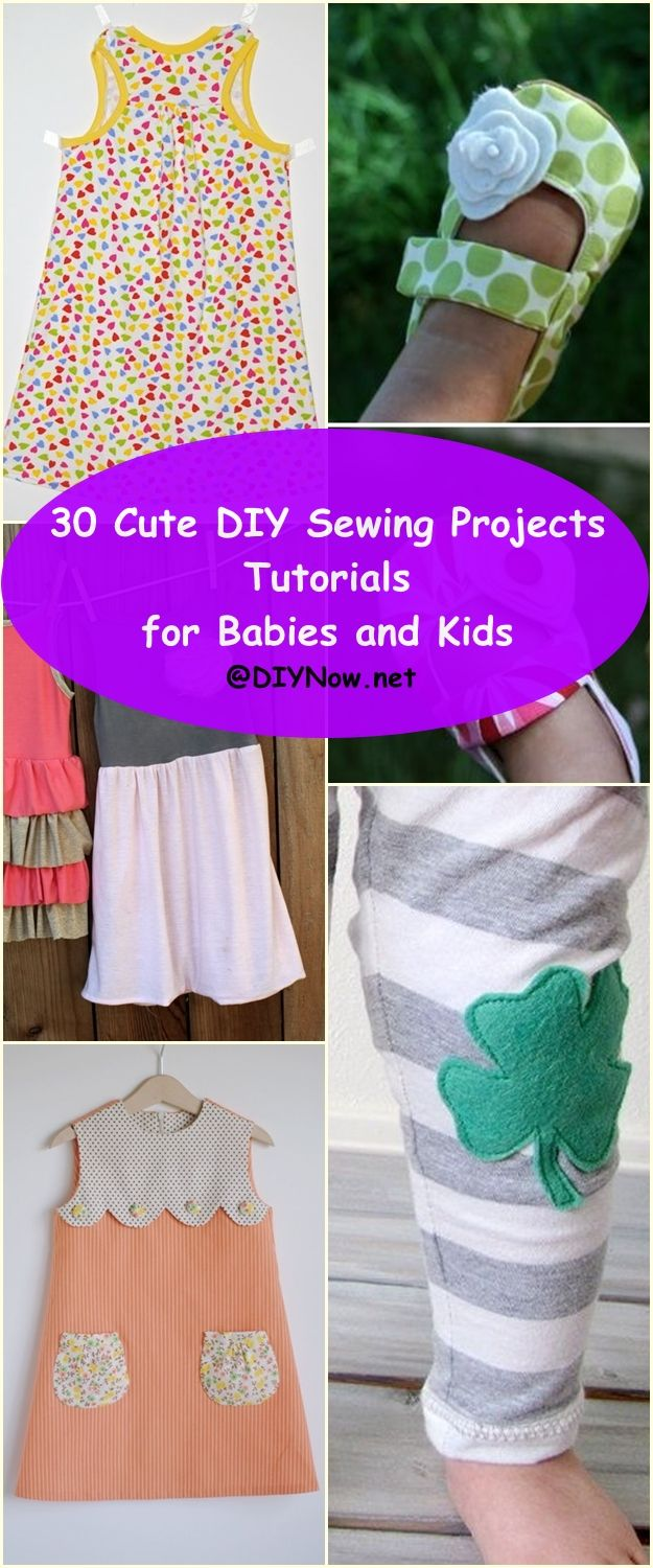 30 Cute DIY Sewing Projects Tutorials for Babies and Kids