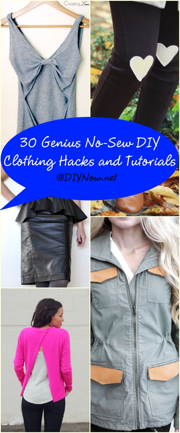 30 Genius No-Sew DIY Clothing Hacks Tutorials