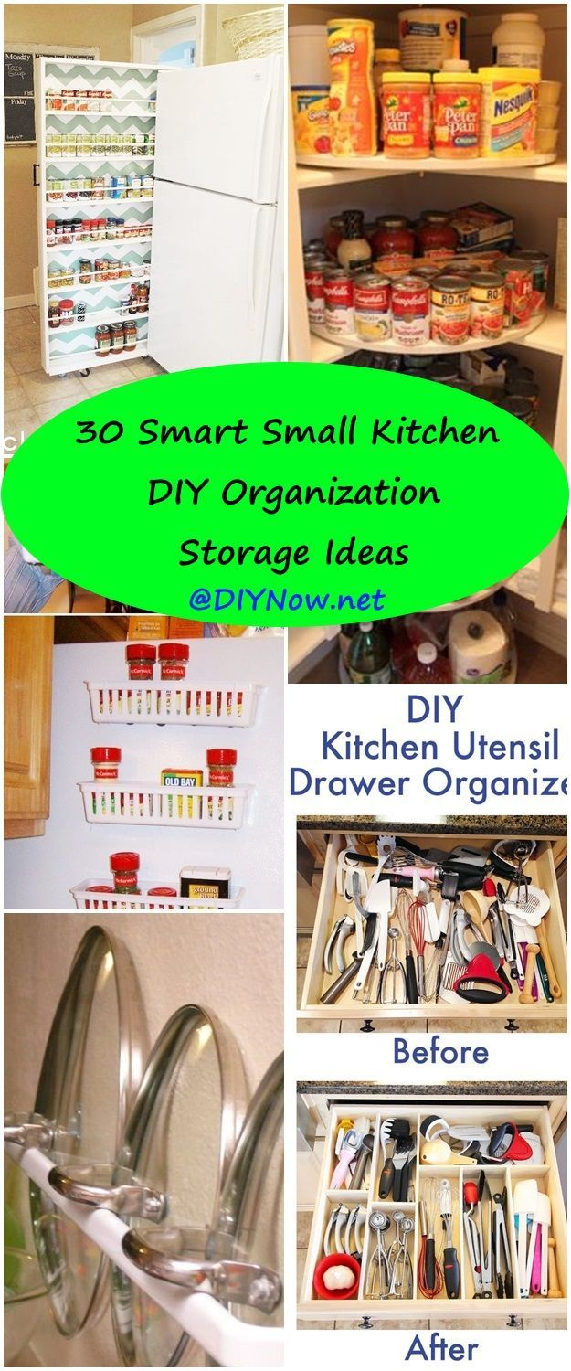30 Smart Small Kitchen DIY Organization Storage Ideas