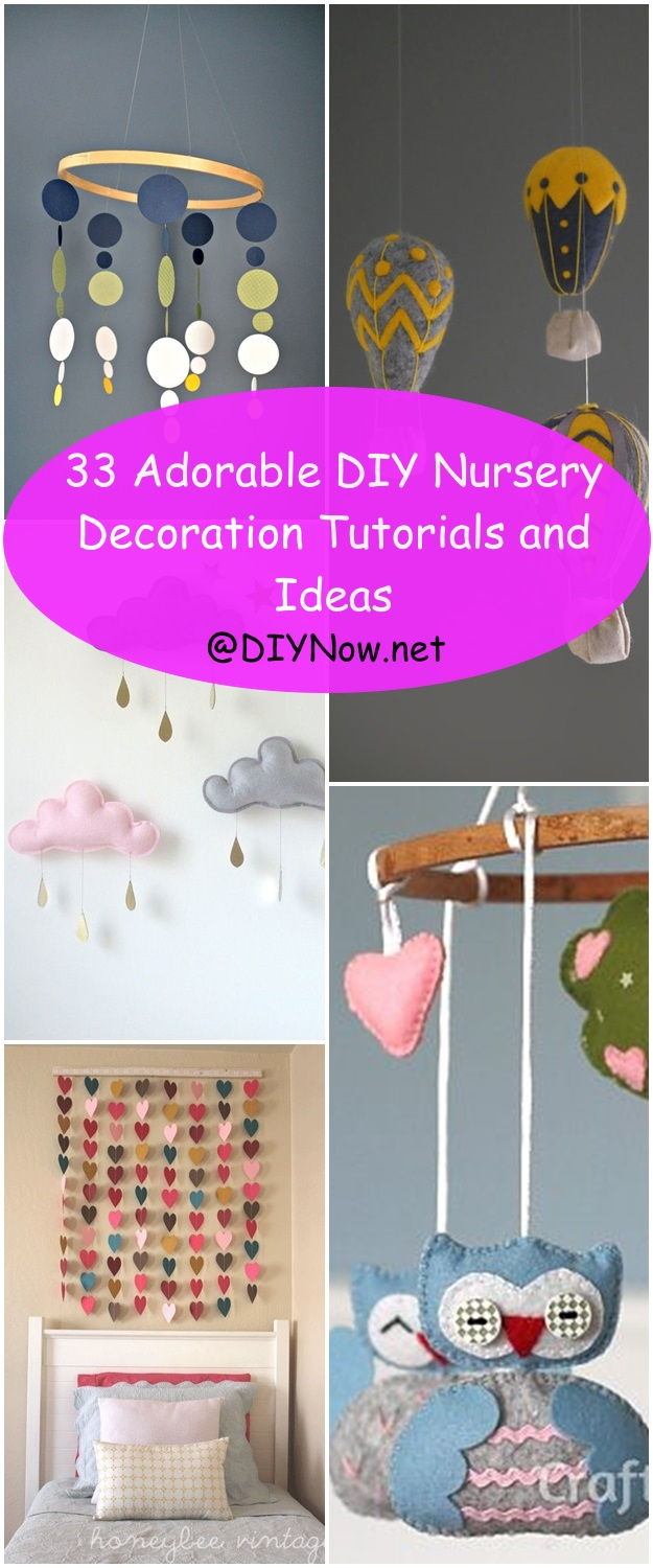 33 Adorable DIY Nursery Decoration Tutorials and Ideas