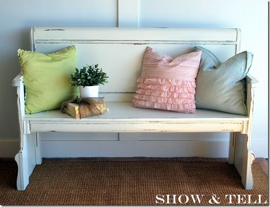 30 creative repurposed headboard diy project ideas and for Headboard made pillows