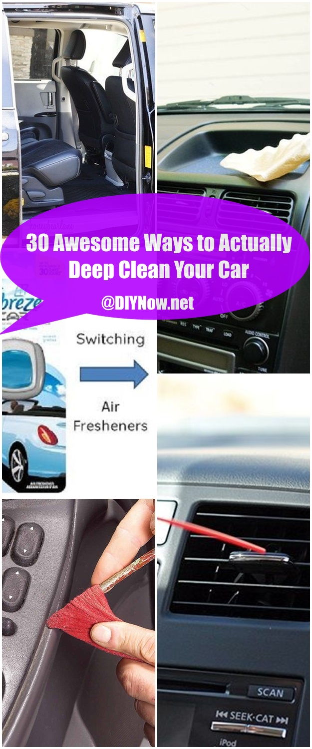 30 Awesome Ways to Actually Deep Clean Your Car