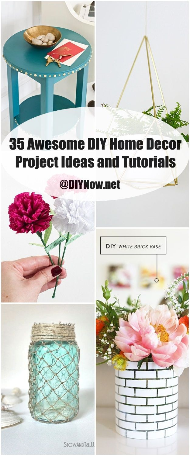 35 Awesome DIY Home Decor Project Ideas and Tutorials