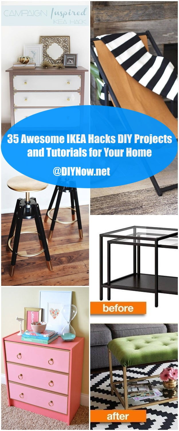 35 Awesome IKEA Hacks DIY Projects and Tutorials for Your Home