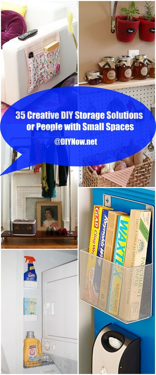 35 creative diy storage solutions for people with small spaces page 37 - Storage solutions for small spaces cheap photos ...