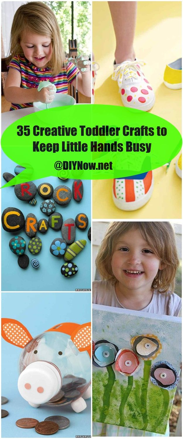 35 Creative Toddler Crafts to Keep Little Hands Busy