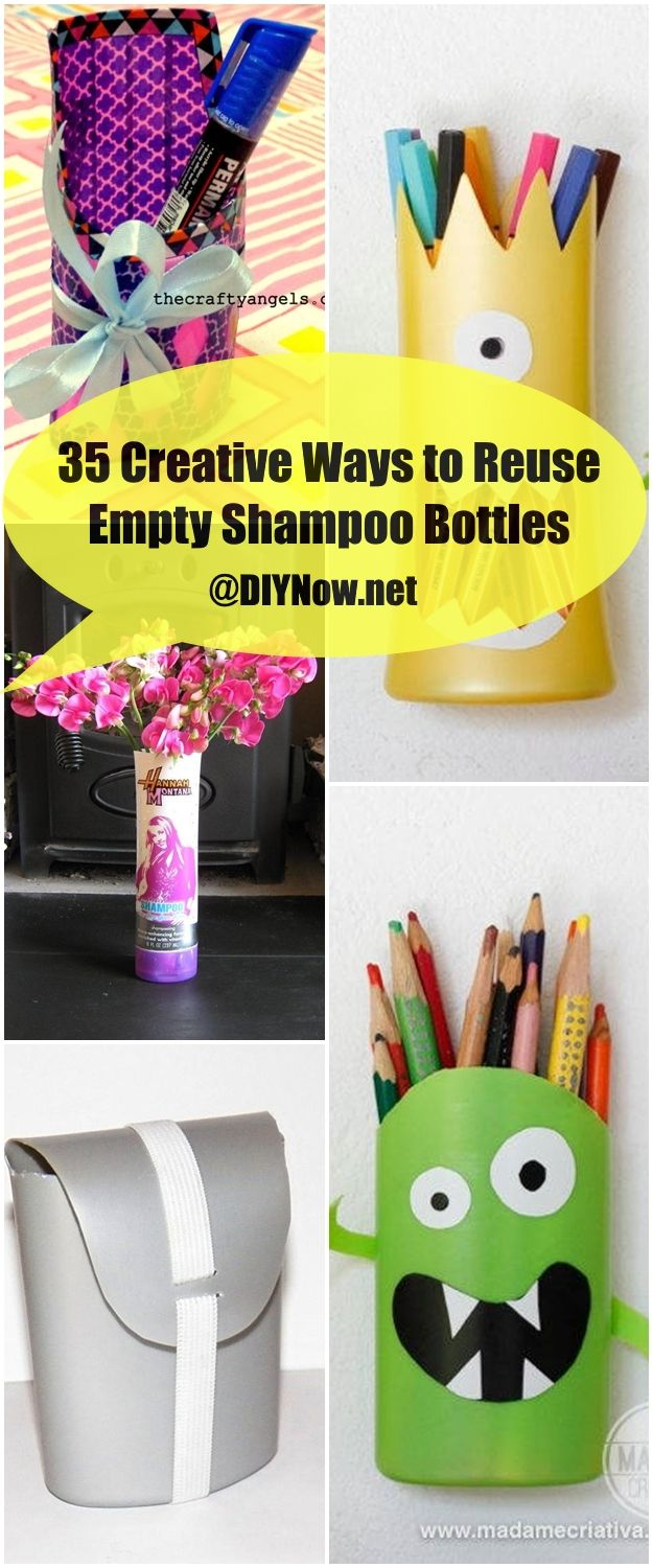 35 Creative Ways to Reuse Empty Shampoo Bottles