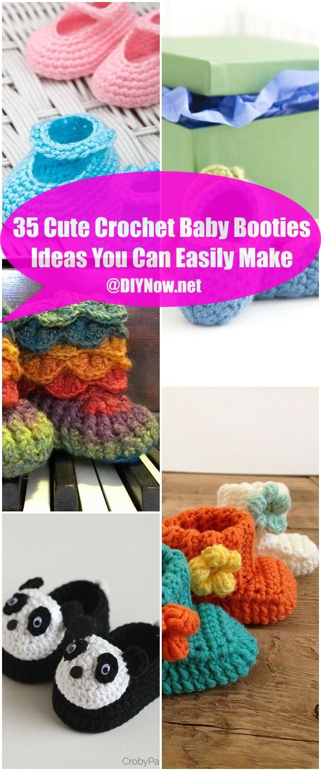 35 Cute Crochet Baby Booties Ideas You Can Easily Make