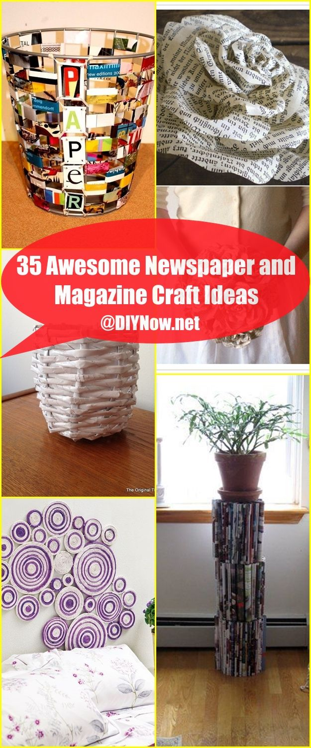 35 Awesome Newspaper and Magazine Craft Ideas