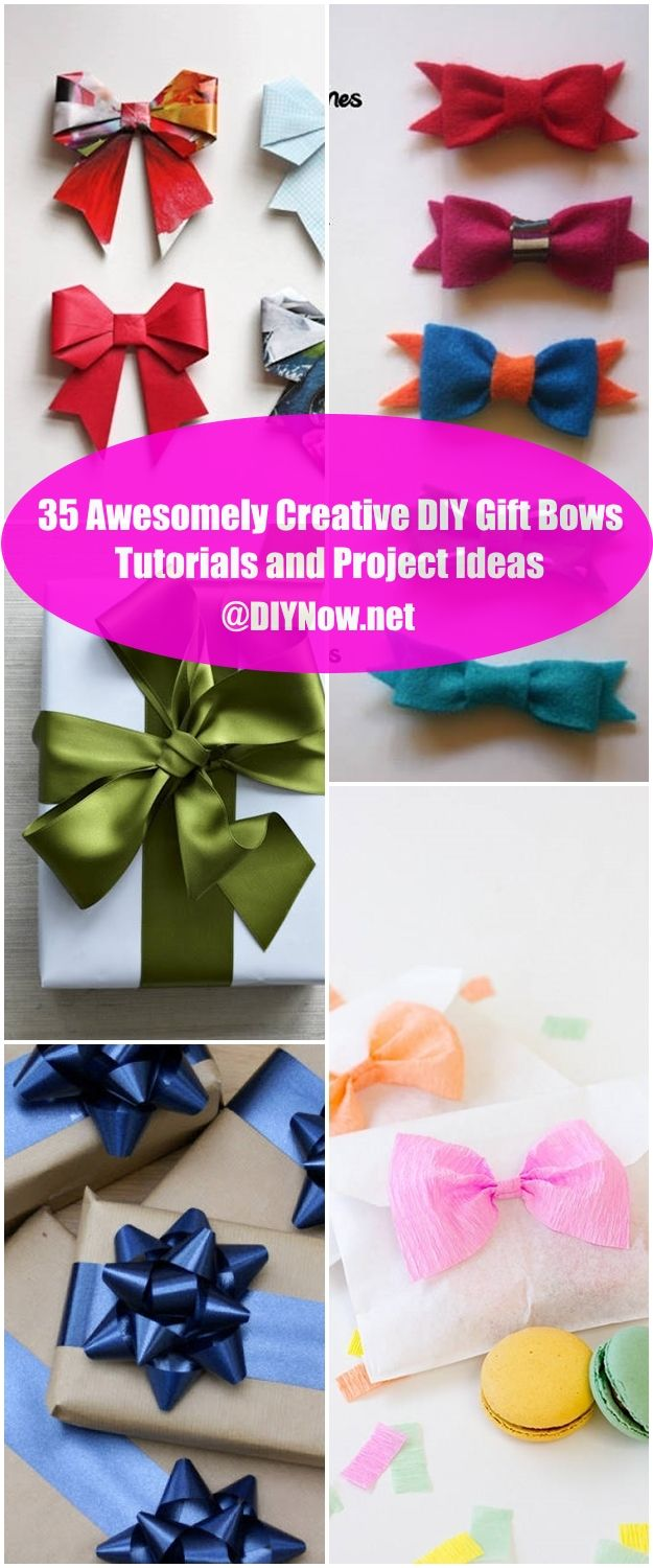 35 Awesomely Creative DIY Gift Bows Tutorials and Project Ideas