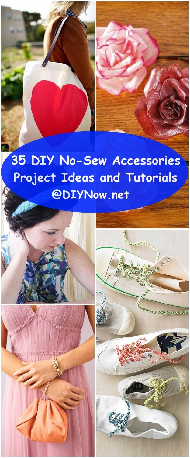 35 DIY No-Sew Accessories Project Ideas and Tutorials