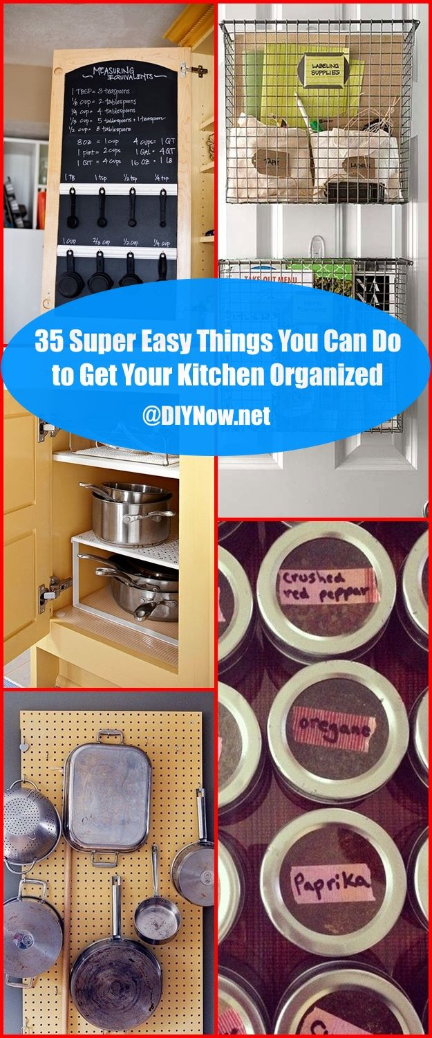 35 Super Easy Things You Can Do to Get Your Kitchen Organized