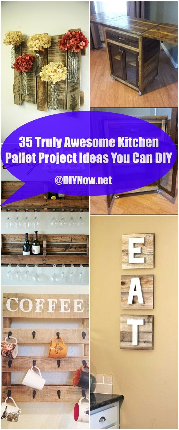 35 Truly Awesome Kitchen Pallet Project Ideas You Can DIY