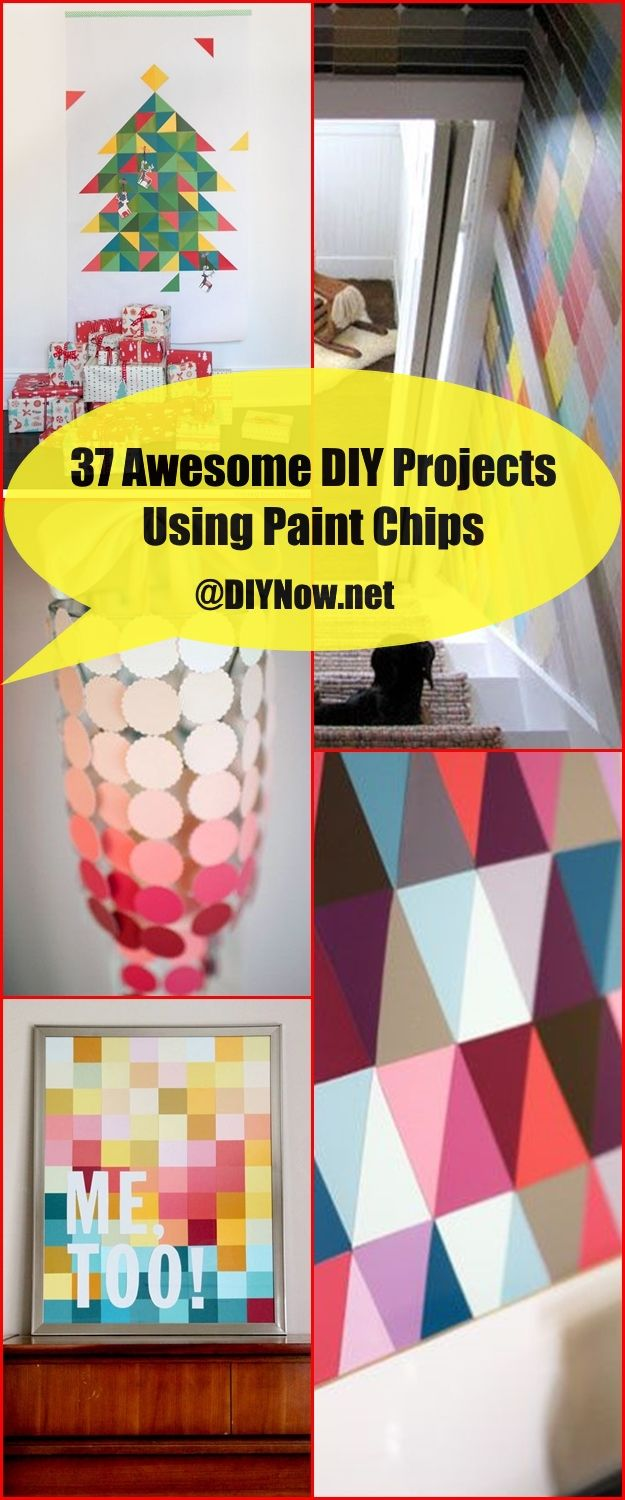 37 Awesome DIY Projects Using Paint Chips