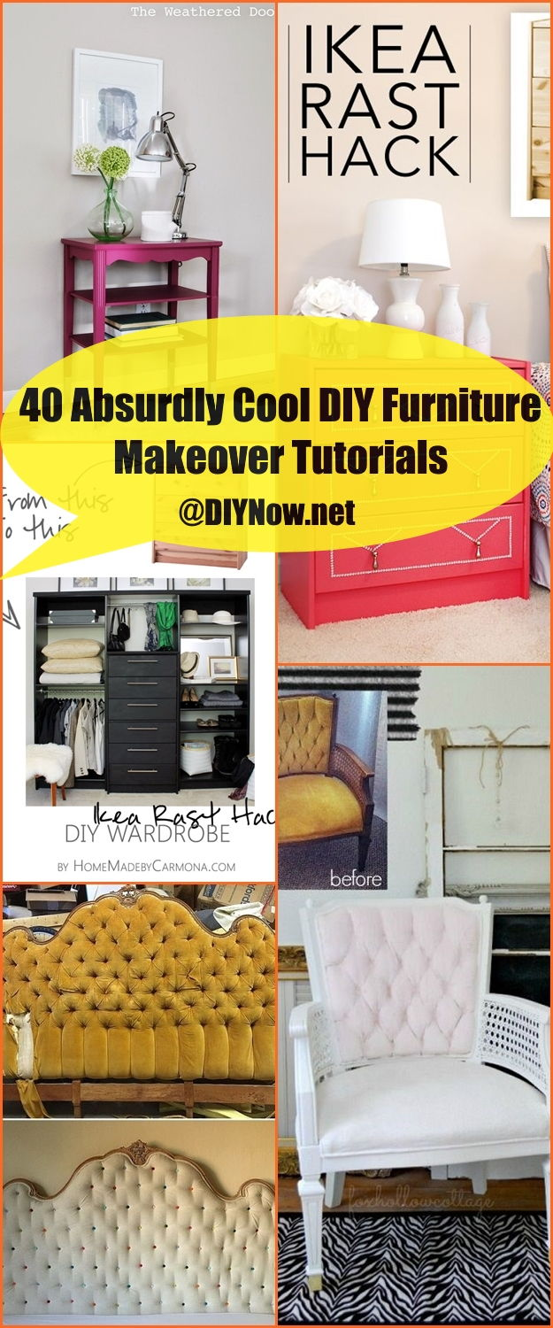40 Absurdly Cool DIY Furniture Makeover Tutorials
