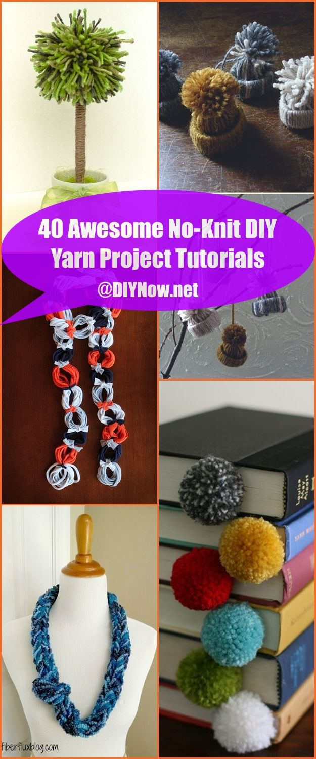 40 Awesome No-Knit DIY Yarn Project Tutorials