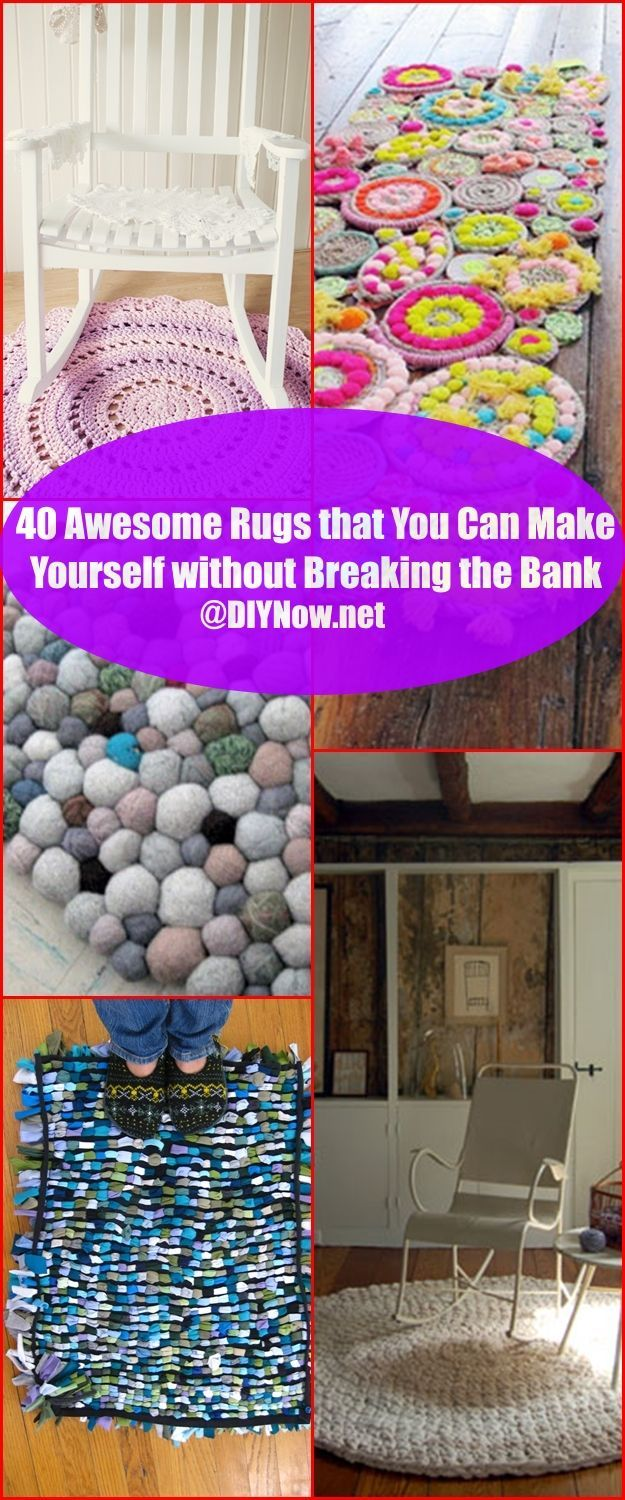 40 Awesome Rugs that You Can Make Yourself without Breaking the Bank