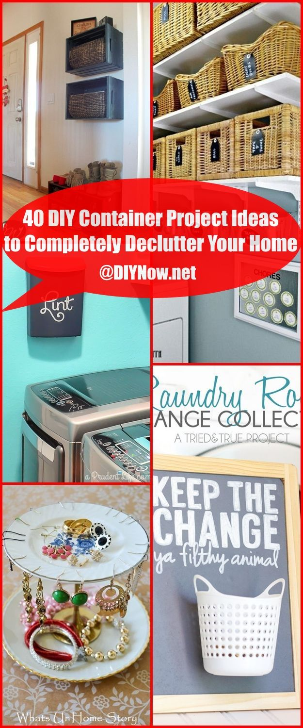 Diy Container Project Ideas To Completely Declutter Your Home
