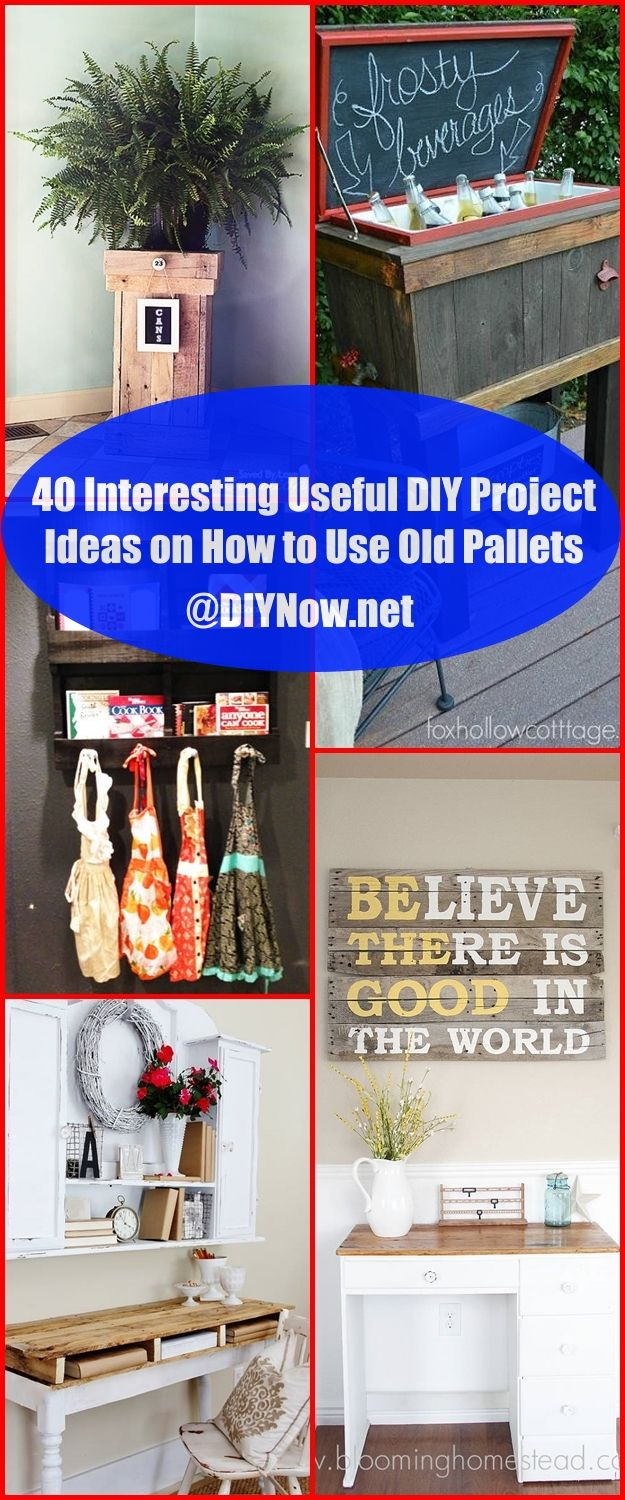 40 Interesting Useful DIY Project Ideas on How to Use Old Pallets