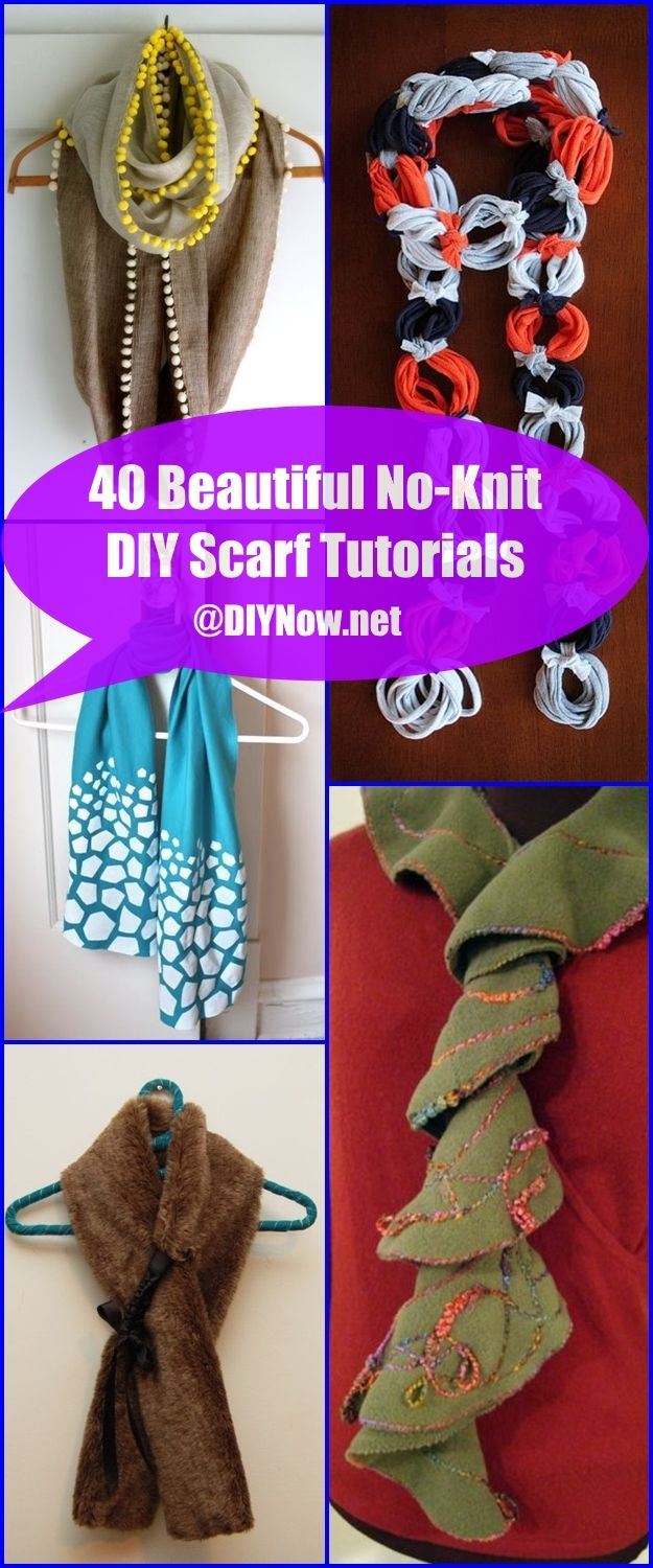 40 Beautiful No-Knit DIY Scarf Tutorials