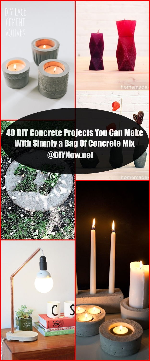 40 DIY Concrete Projects You Can Make With Simply a Bag Of Concrete Mix