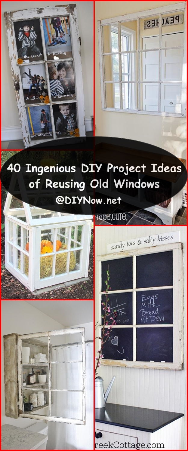 40 Ingenious DIY Project Ideas of Reusing Old Windows