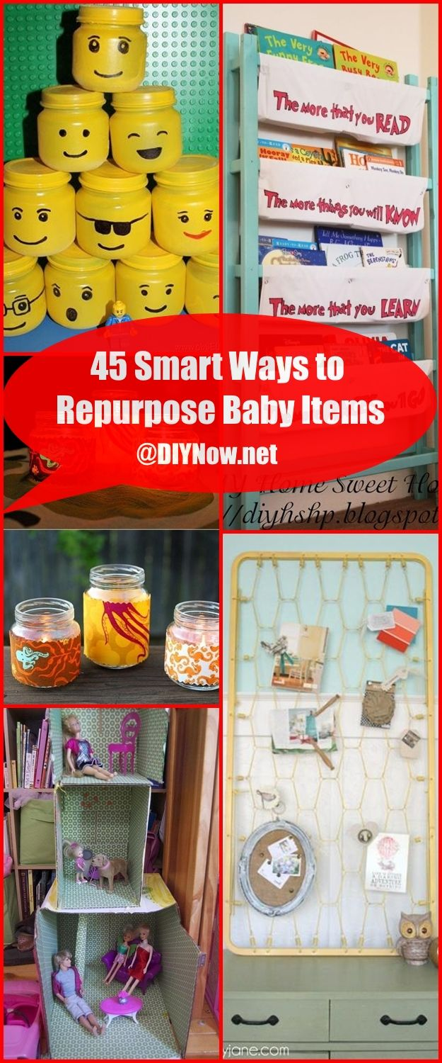 45 Smart Ways to Repurpose Baby Items
