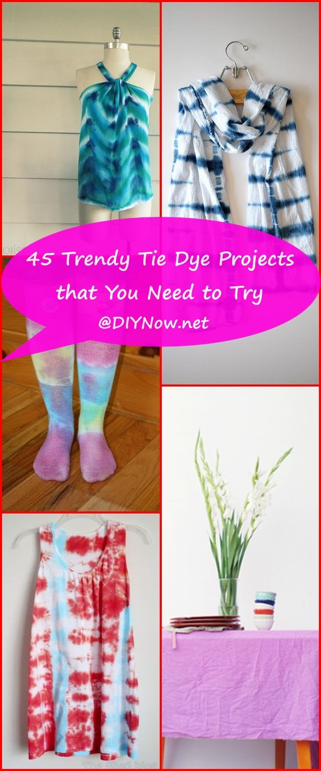 45 Trendy Tie Dye Projects that You Need to Try