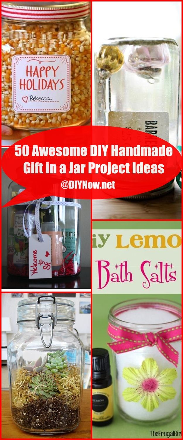 50 Awesome DIY Handmade Gift in a Jar Project Ideas