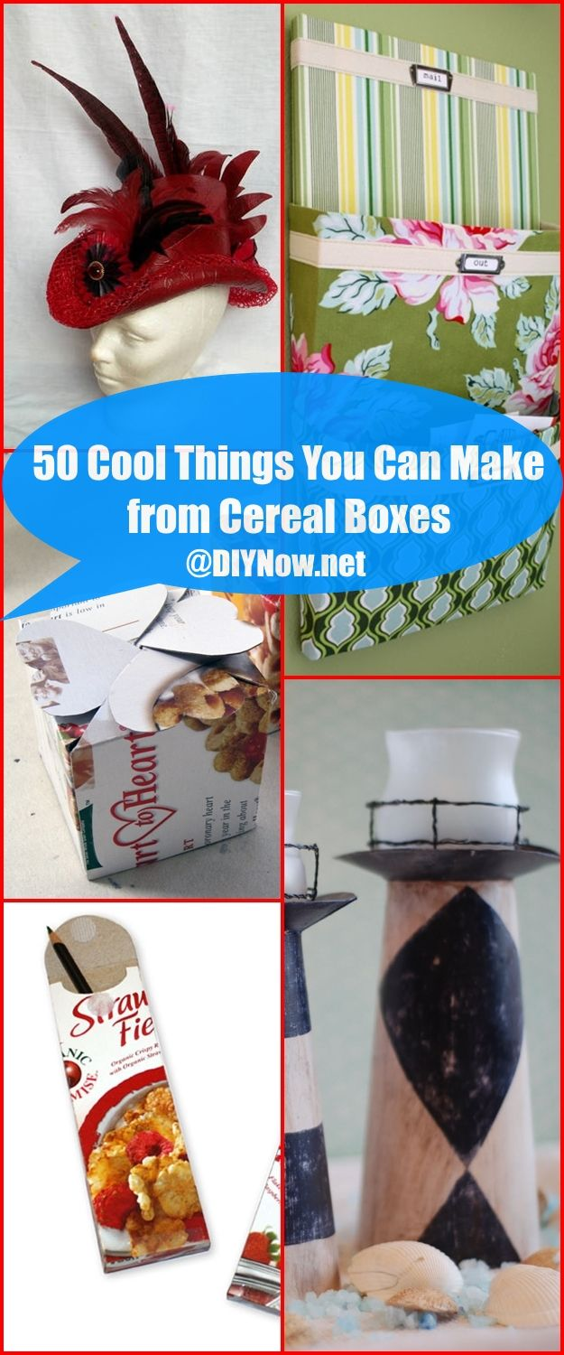 50 Cool Things You Can Make from Cereal Boxes