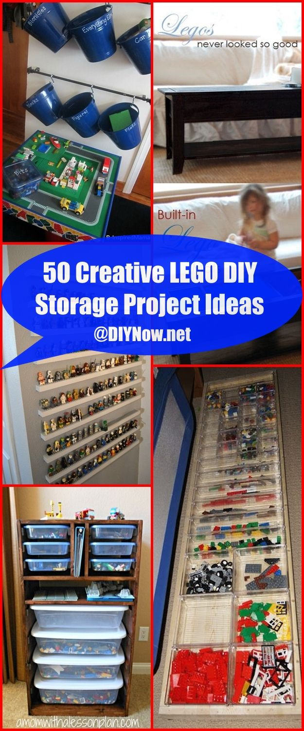 50 Creative LEGO DIY Storage Project Ideas