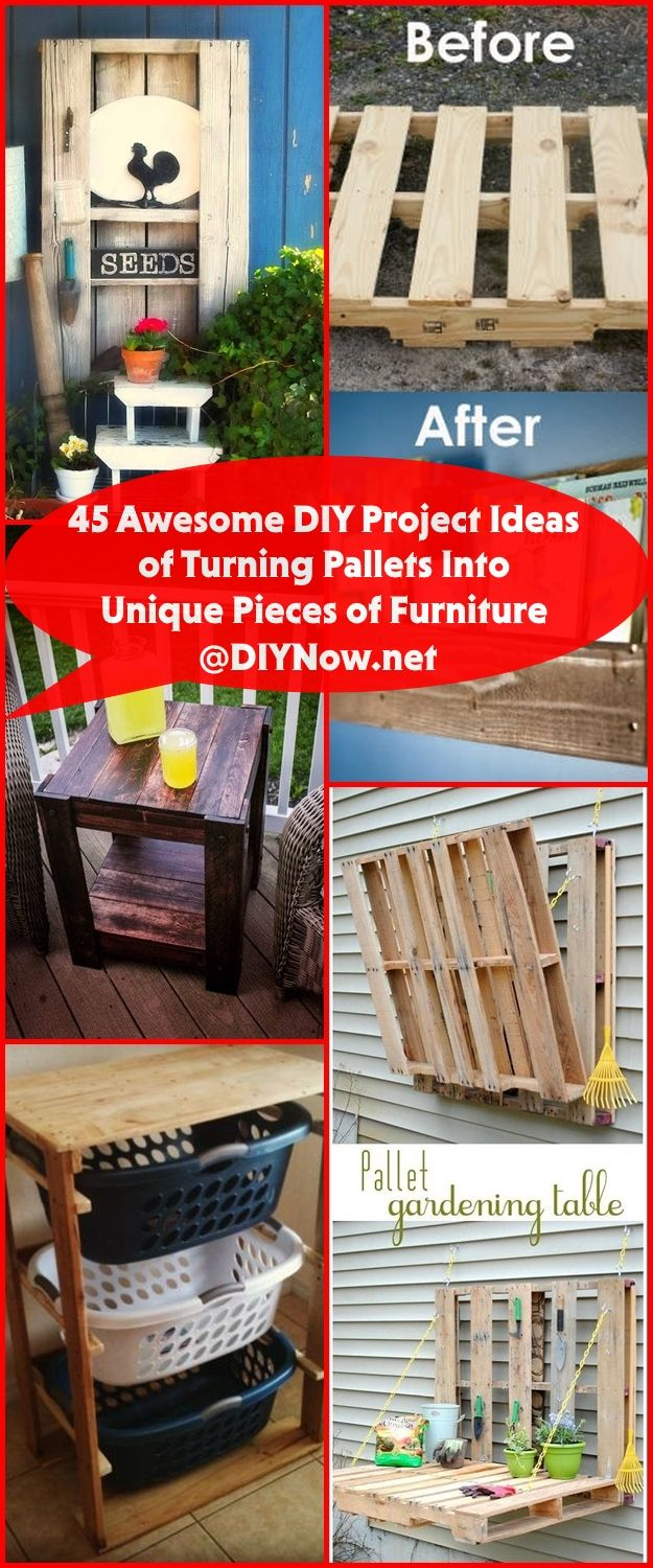 45 Awesome DIY Project Ideas of Turning Pallets Into Unique Pieces of Furniture