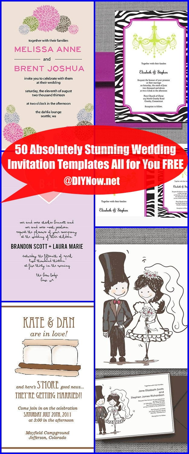 50 Absolutely Stunning Wedding Invitation Templates All for You FREE ...
