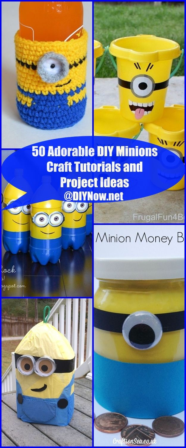 50 Adorable DIY Minions Craft Tutorials and Project Ideas
