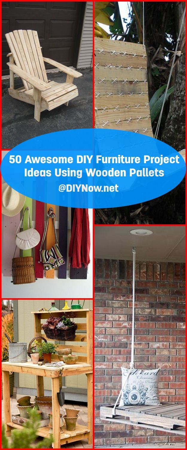 50 Awesome DIY Furniture Project Ideas Using Wooden Pallets
