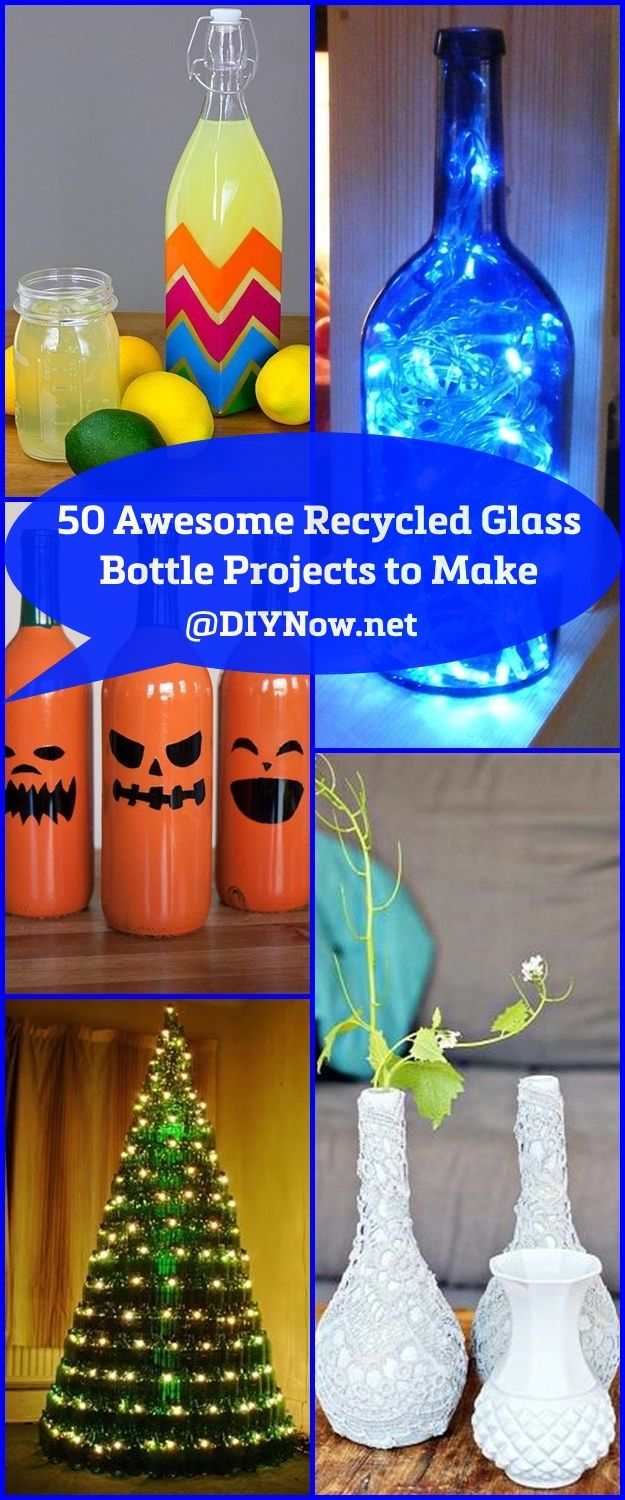 50 Awesome Recycled Glass Bottle Projects to Make