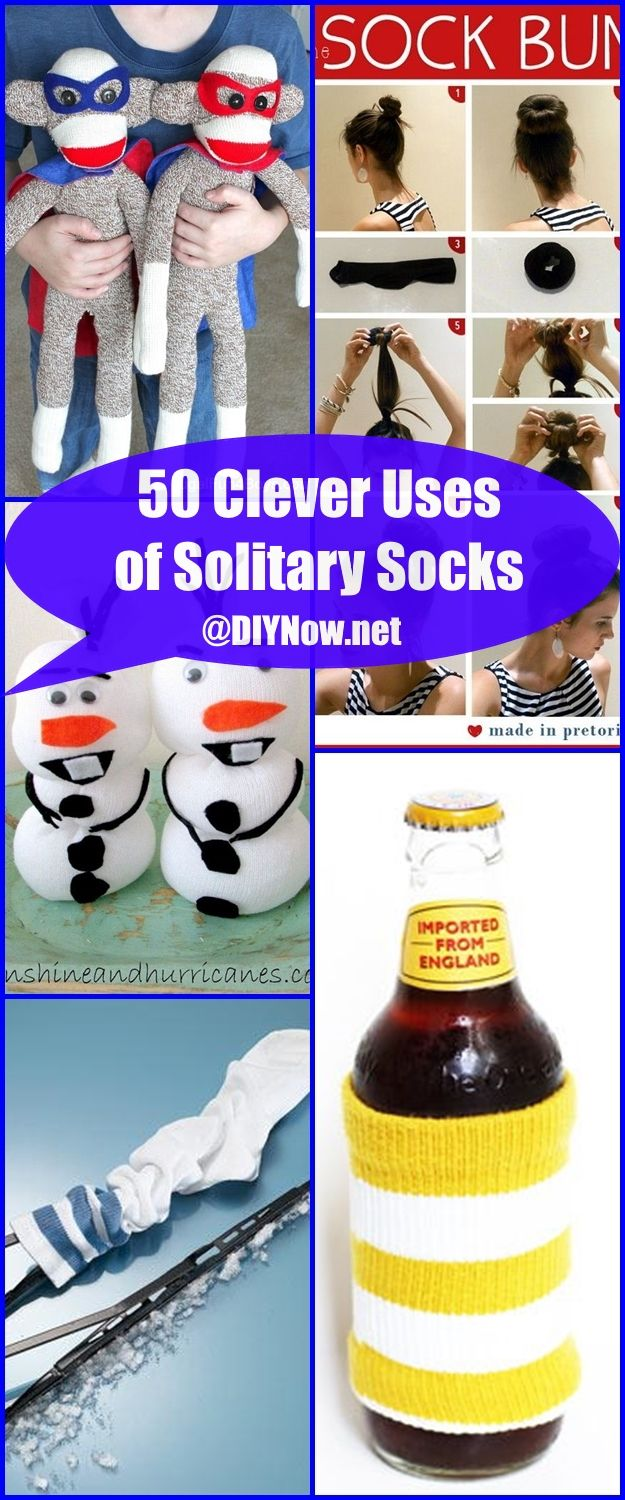 50 Clever Uses of Solitary Socks